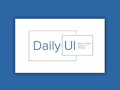 Daily UI   #052   Daily UI Logo blue simple typographie design ci logo ux ui daily ui