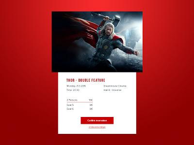 Daily UI   #054   Confirm Reservation webdesign marvel ticket cinema online reservation movie card reservation ux ui daily ui