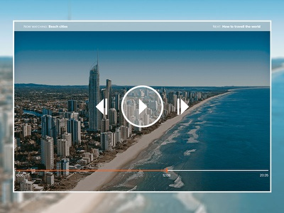 Daily UI   #057   Video Player concept player movie video. video player ux ui daily ui