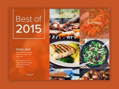 Daily UI   #063   Best of 2015 card concept design year food 2015 list best of ux ui daily ui