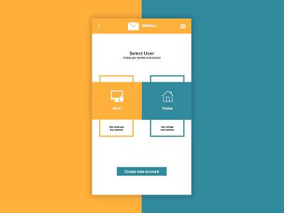 Daily UI   #064   Select User Type select user type selection card email app user ux ui daily ui