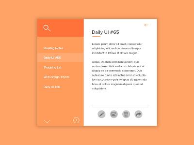 Daily UI   #065   Notes Widget minimal interface type design concept card app widget notes ux ui daily ui