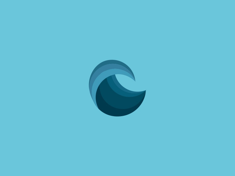 The Elements - Water elements blue circle design simpel illustrator illustration vector logo water icon graphic design