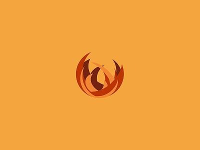The Elements - Fire digital orange fire vector logo illustration graphic design icon artwork icon circle graphic design