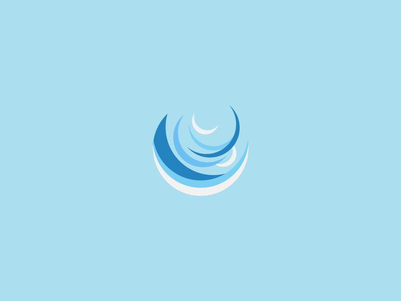 The Elements - Air geometric simple vecotr logo blue air illustrator illustration icon artwork icon app icon app circle design design