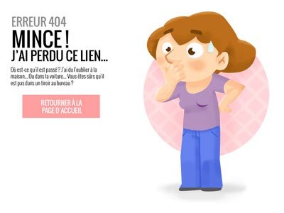 404 page 404 website webdesign woman cartoon