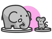 Icon (mouse and elephant)