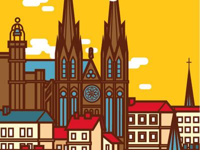 Affiche Clermont-Ferrand vectoriel city clermont-ferrand affiche poster