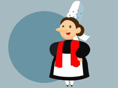 Bigouden illustration character design cartoon character brittany bretagne bigouden