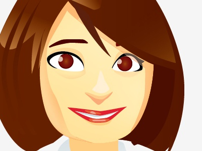 Femme woman executive corporate cartoon vectorial