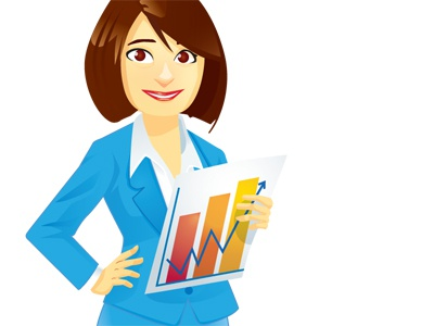 ERDF woman executive corporate cartoon vectorial