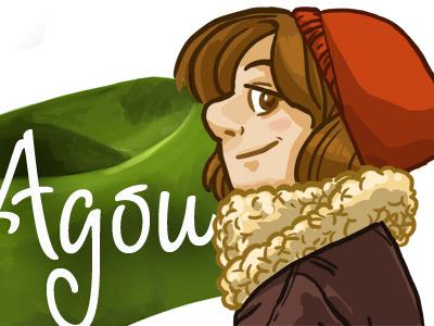 Bandeau de blog character illustration girl smile