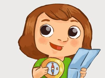 Torreilles Illustrations de plaquette girl illustration tourism photoshop