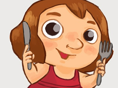 Torreilles Illustrations girl illustration tourism photoshop eat fork
