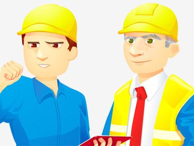 ERDF illustration men corporate business
