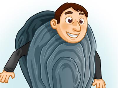 Oyster Man avatar man illustration oyster fun