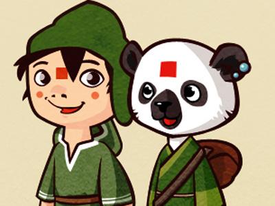 Yuko illustration doodle game character design boy animal
