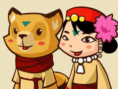 Yuko illustration doodle game character design girl animal