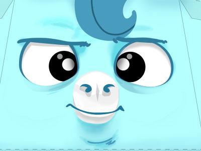 Pepetz paper toy unicorn blue illustration