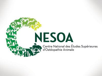 Logo Cnesoa logo school osteopathy animals
