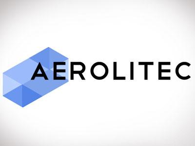 Aerolitech logo blue hi-tech