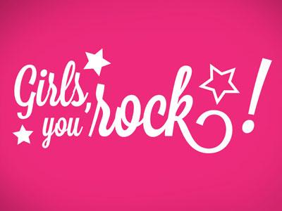 Girls,you rock! logo association girly