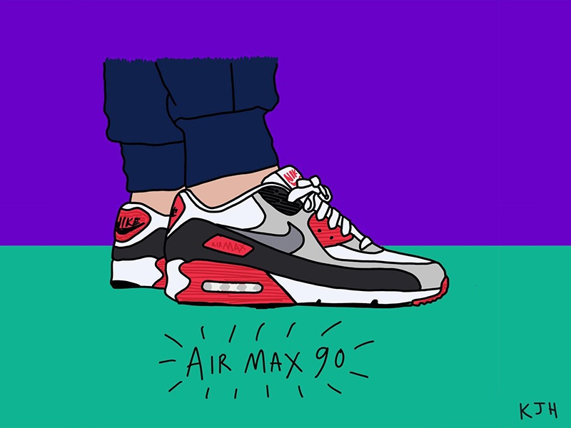 size 40 02ec2 21b3f Airmax90 pink black grey draw sketch illustration airmax90 airmax swoosh  sneakers nike