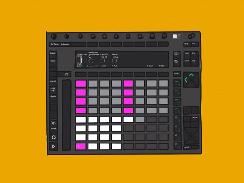 Ableton Push sound design midi drum rack drums sequencing graphic design illustration edm musicproduction beats push ableton