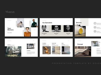 Y K A R U S branding creativemarket minimalistic creative slide minimal keynote layout brand presentation