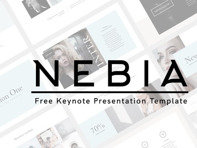 Nebia Free Keynote Presentation Template branding design creative freelancer freebie free slide minimal keynote layout brand presentation