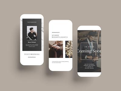 Luxury Canva Social Media Pack canva branding device phone ux app instagram socialmedia template minimal layout brand presentation