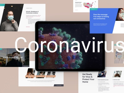 Coronavirus PowerPoint Presentation logo brand corona virus layout deck healthcare health cell corona powerpoint pandemic covid19 coronavirus template slide presentation