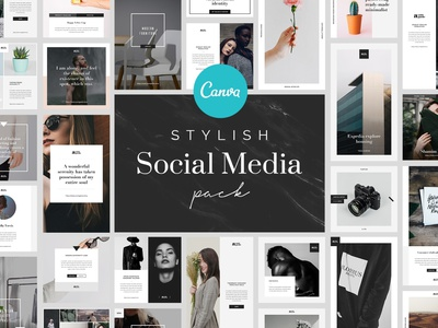 Stylish Canva Social Media Pack ux ui branding design template minimal brand layout canva templates canva social media pack canva template canva.com canva