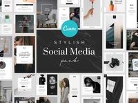 Stylish Canva Social Media Pack ux ui branding design template minimal brand layout canva templates canva social media pack canva template canva.com canva