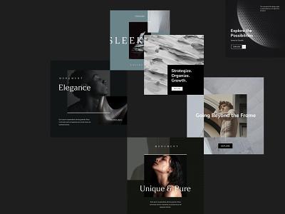 goashape.com branding ui layout minimalistic design keynote template minimal brand presentation