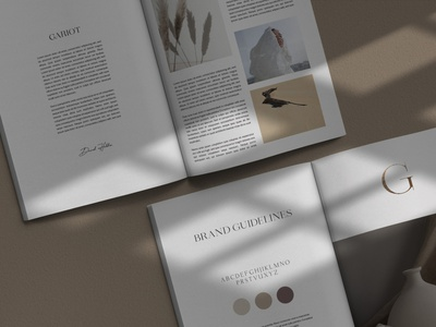 GARIOT Magazine Mockup minimal template creativemarket print shadow natural magazine design photoshop mockup