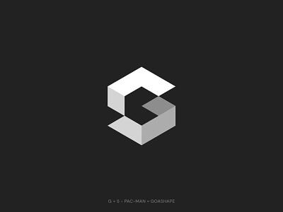 Goashape logo redesign negativespace symbol pacman minimal shape geometriclogo cube brand logodesign logo