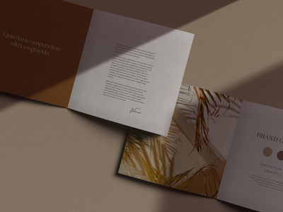 Gariot Brochure Mockups photoshop mockups neutral olive scene creator mockup design mockup template mockup psd print mockup light shadow natural brand template minimal presentation mockup