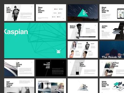 KASPIAN graphicriver ppt creative-market minimalistic minimal creative presentation powerpoint layout keynote flat design