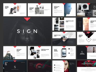 SIGN template minimalist graphic-river modern creative-market minimal logo presentation powerpoint layout keynote design