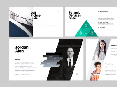 Slides KASPIAN graphicriver ppt creative-market minimalistic flat creative layout powerpoint design minimal presentation keynote