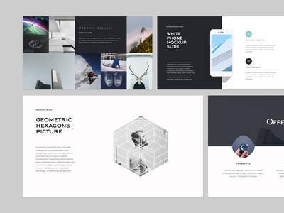 Slide NASH unique web slideshow logo flat creative powerpoint layout design presentation keynote