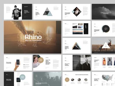 Rhino Keynote Presentation infographic device mockup geometric minimal flat design layout slide powerpoint keynote presentation
