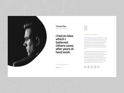 Slide of Rhino web unique slideshow presentation powerpoint logo layout keynote flat design creative