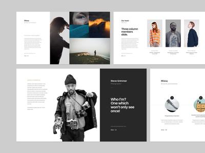 Rhino presentation web ui progressive minimal brand slide layout keynote presentation