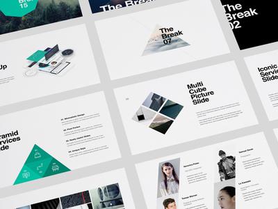 KASPIAN Presentation + BONUS presentation ppt powerpoint minimalistic minimal layout keynote graphicriver flat design creative-market creative