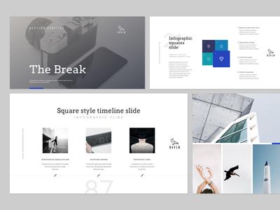 RAVEN presentation slides minimal layout template design creative typography minimalistic powerpoint keynote slide presentation