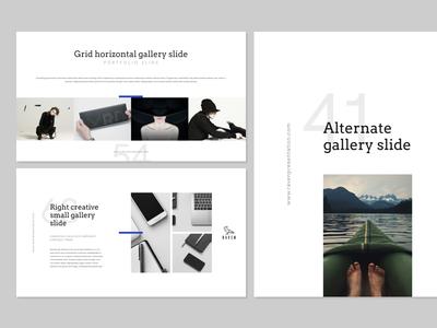 RAVEN showcase unique ui typography slide presentation powerpoint portfolio modern minimalistic layout keynote creative