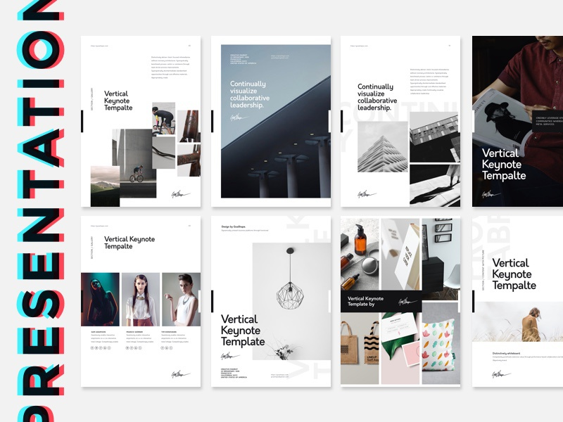 vertical keynote presentation template by goashape dribbble dribbble