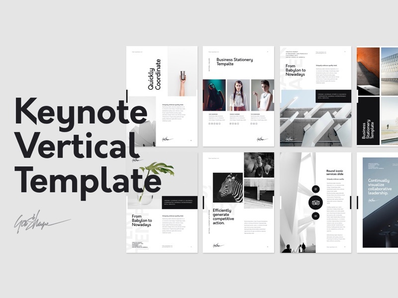 Keynote Vertical Template By GoaShape Dribbble Dribbble